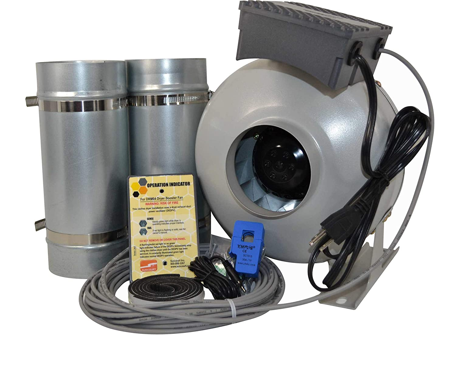 Suncourt Centrax Dryer Boosting Kit, 4 Inch, Energy Saving Duct Fan