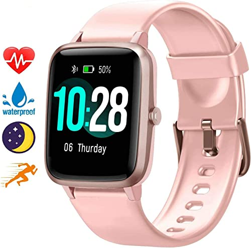 Blackview Smart Watch for Android Phones and iOS Phones, All-Day Activity Tracker with Heart Rate Sleep Monitor, 1.3 Full Touch Screen, 5ATM Waterproof Pedometer, Smartwatch for Men Women