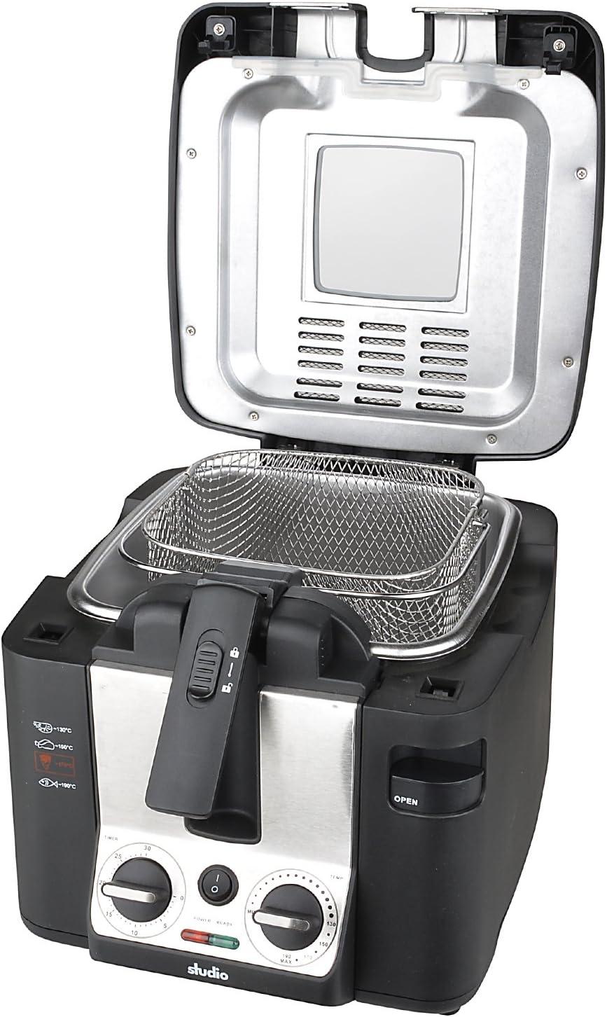Eléctrico freidora 2,2 litros de aluminio permanente de filtro 2800 W cesta de freír de acero inoxidable: Amazon.es: Hogar