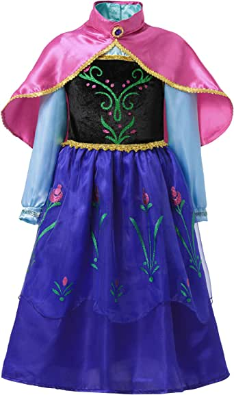 FashionModa4U Scandinavian Princess Girls Costume Dress