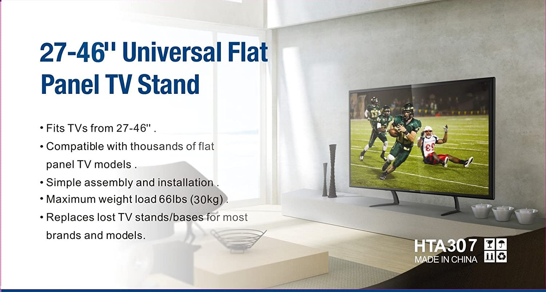 hta307 Universal Repuesto Tablero de la Mesa Patas Soporte para televisor LED/LCD 27