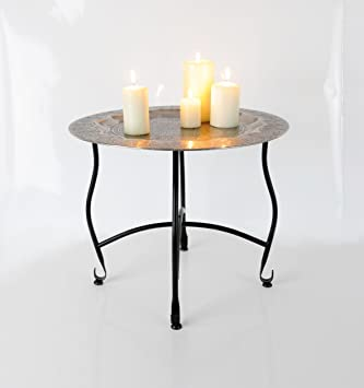 Beistelltisch Orient 50x40cm Tisch Teller Mit Ornamenten