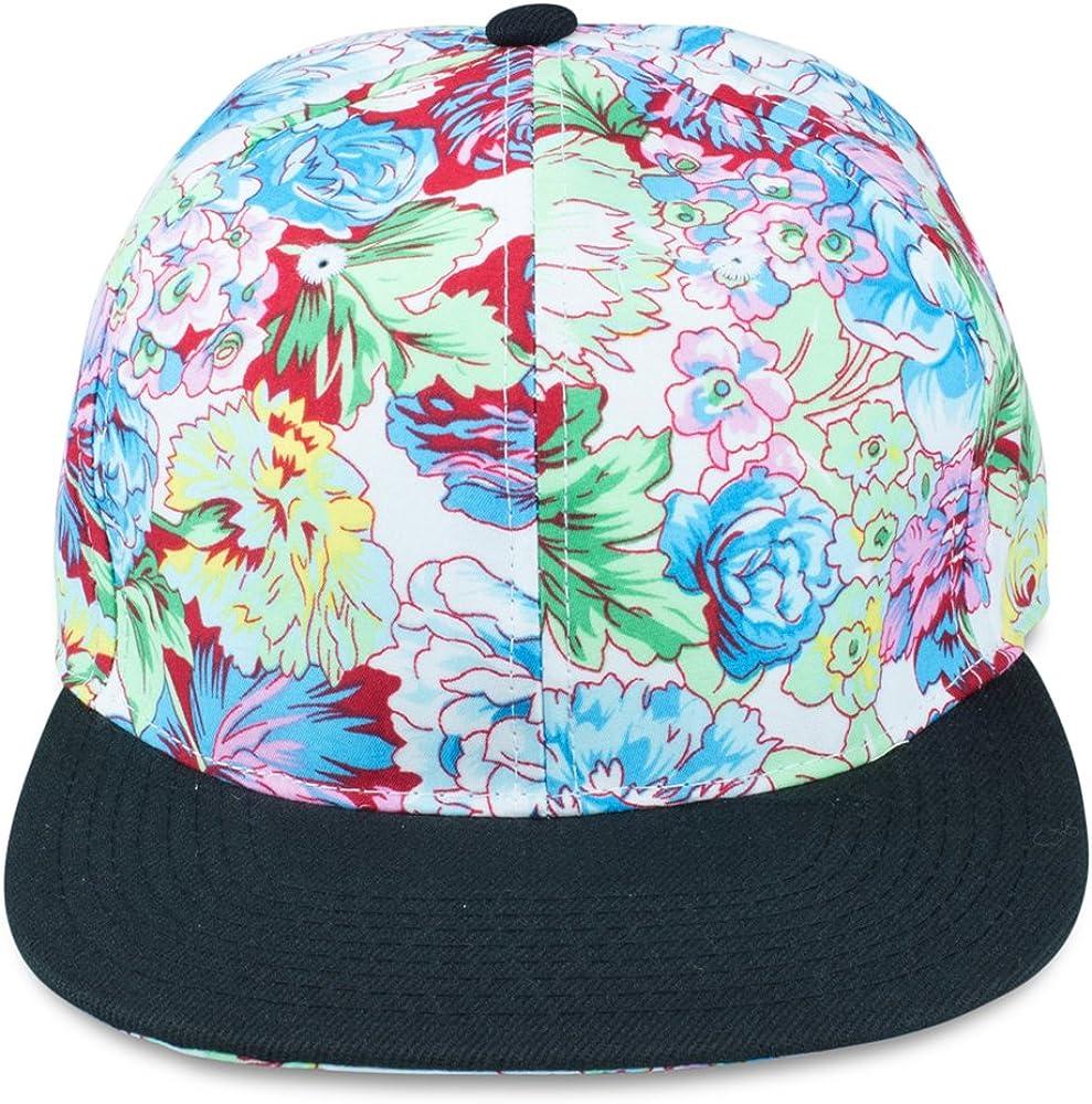 gr/ö/ßemverstellbar Unisex Sense42 Flower mit schwarzen Schirm One Size f/ür Damen und Herren Snapback Cap im Blumen Design gro/ßer Schirm
