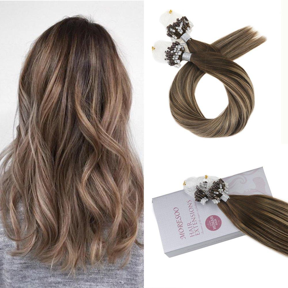 Amazon Moresoo 22 Inch Straight Micro Loop Hair Extensions