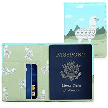 4dc6b5f15e29 kwmobile Passport Holder with Card Slots - PU Leather Cover Protective Case