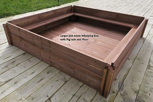 FSC de madera perro largo y unacachorrita pariendo caja (30 cm x ...