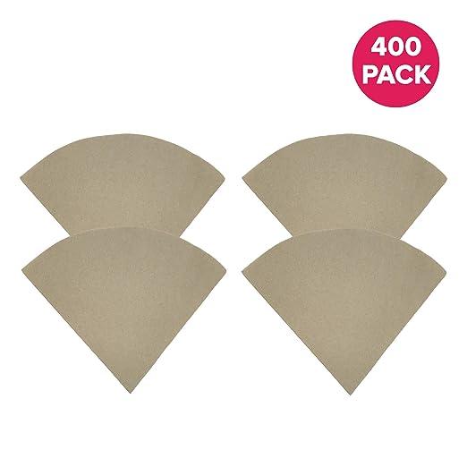 400pk sin blanquear papel café filtros para 6, 8 y 10 taza ...