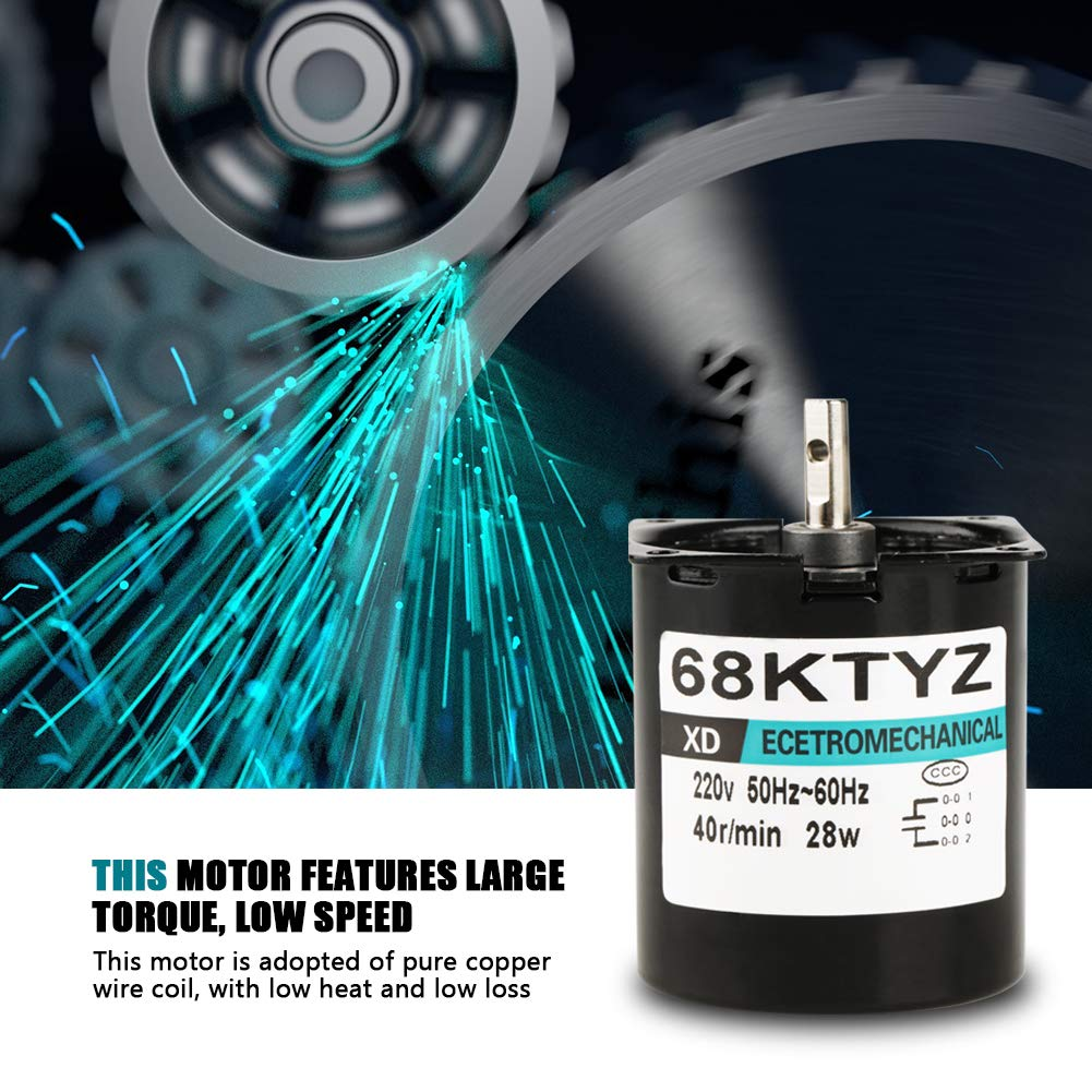 Elektrischer Synchroner Zahnrad Synchrongetriebe Motor 60KTYZ Hohen Drehmoment Wechselstrom 220V 5R // Min