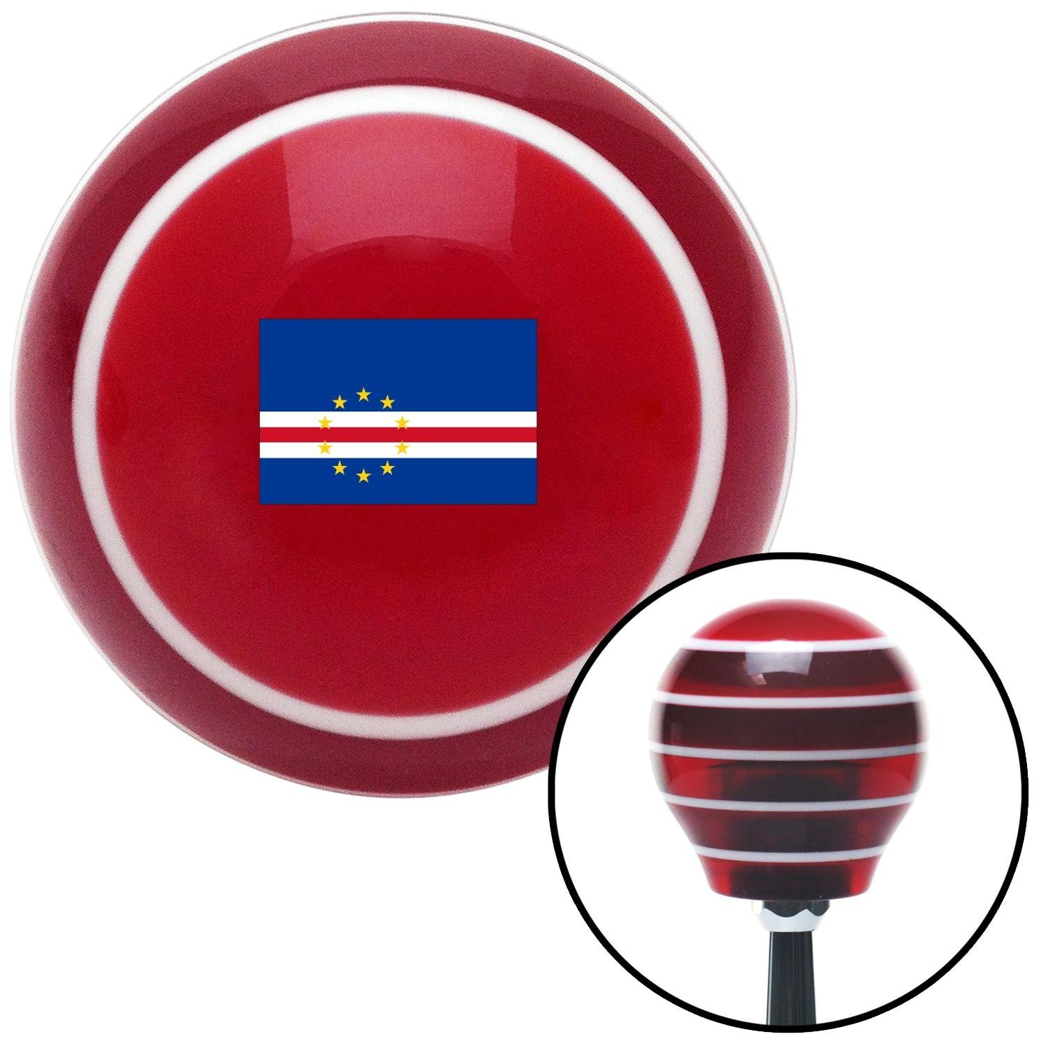 Cape Verde Red Stripe with M16 x 1.5 Insert American Shifter 305105 Shift Knob