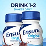 Ensure Original Nutrition Shake With 9g of Protein, Meal Replacement Shakes, Dark Chocolate, 8 fl oz, 24 Count