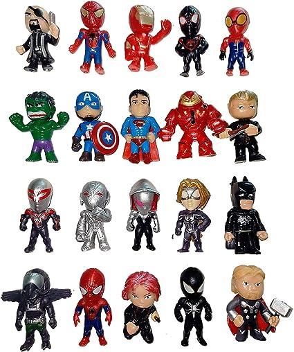 Amazon.com: MEET Superhero Cake Toppers – 20 piezas Mini ...