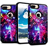 iPhone 8 Plus Case, iPhone 7 Plus Case, Miss Arts Slim Anti-Scratch Protective Kit with [Drop Protection] Heavy Duty Dual layer Case Cover for iPhone 7/8 Plus 5.5 Inch -[Galaxy]