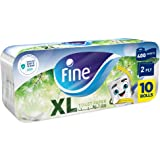 Fine, Sterilized Toilet Paper, Extra Long, 400 sheets x2 Ply, pack of 10 rolls