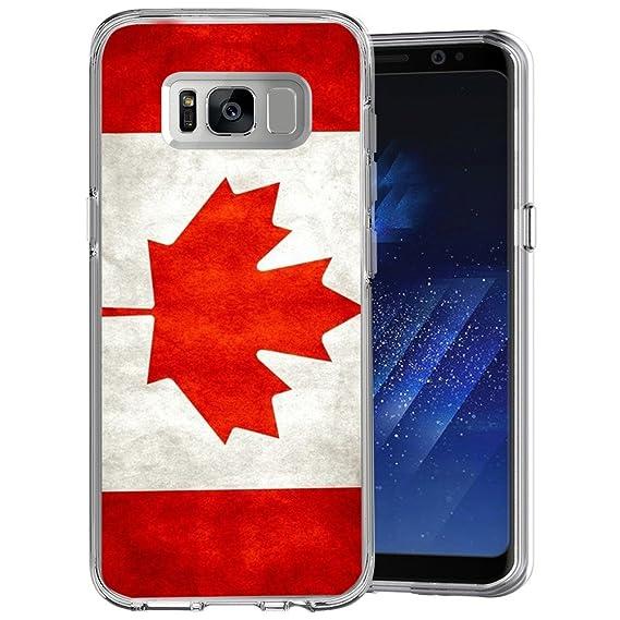 meet dcb50 56cbe Amazon.com: Canadian flag Samsung Galaxy S8 Case Clear, By Milostar ...