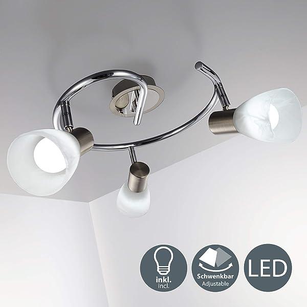 Lámpara de techo moderna con focos giratorios incl. 3 x 5,5W ...