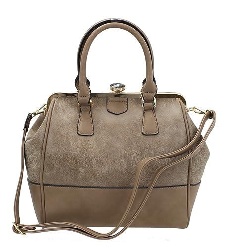262712b24 Paula Rossi - Bolso estilo bolera para mujer, Muddy (Marrón) - 226-2 ...