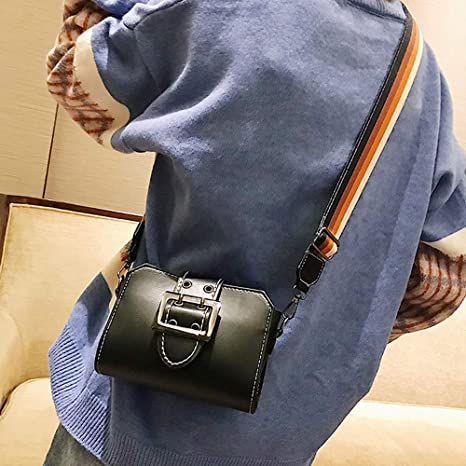 Amazon.com: Shoulder Bag for Women Retro Flap Bag Patent Leather Broadband Crossbody Bag,Rakkiss: Clothing
