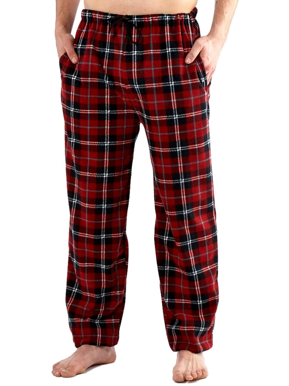 Para hombre diseño clásico de cuadros forro polar Lounge wear pijama pantalones de Bottoms Pijamas Ropa de Dormir: Amazon.es: Ropa y accesorios