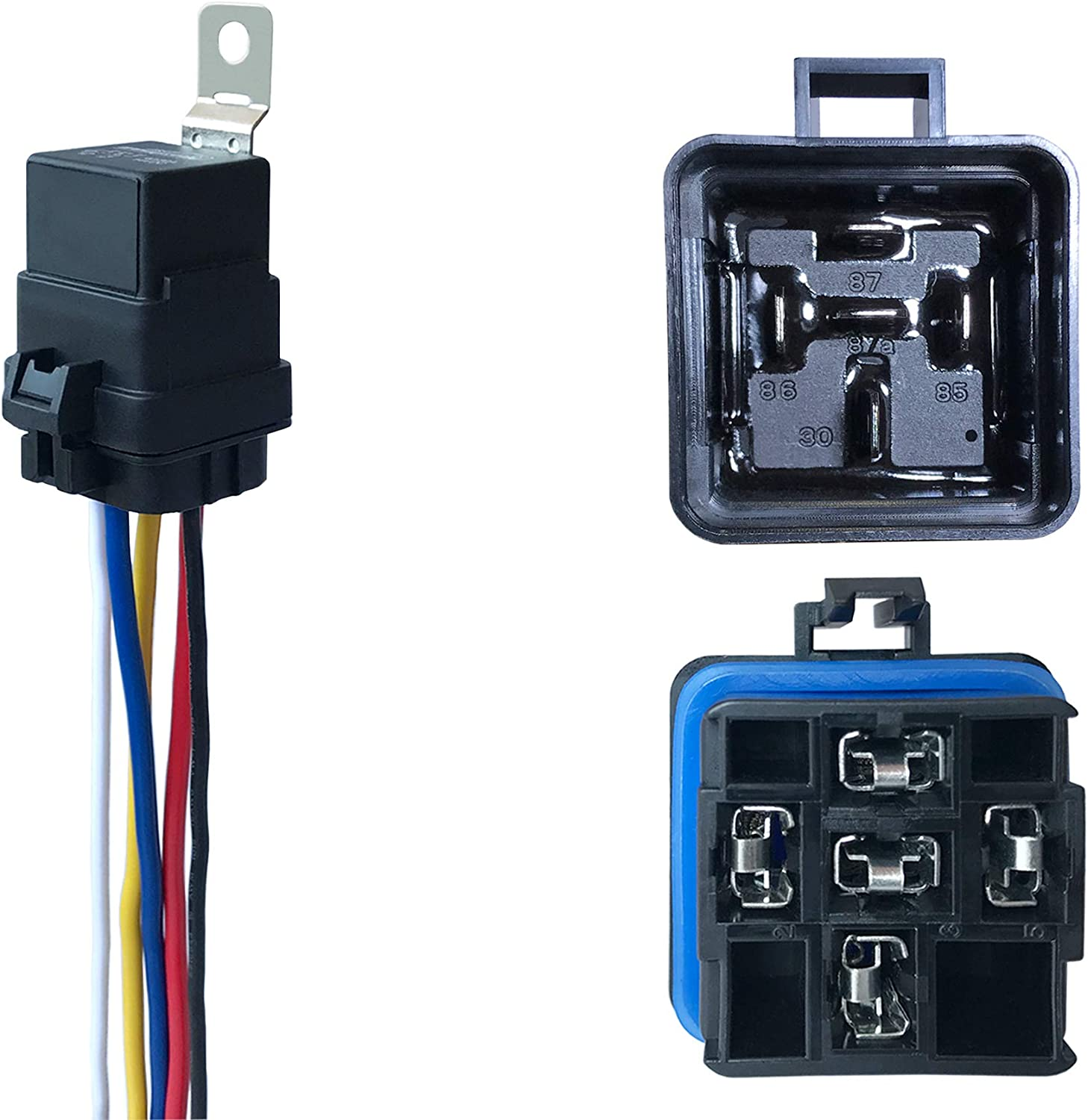Amazon.com: 1 Pack 40/30 AMP 12 V DC Waterproof Relay and Harness - Heavy  Duty 12 AWG Tinned Copper Wires, 5-PIN SPDT Bosch Style Automotive Relay:  Industrial & ScientificAmazon.com