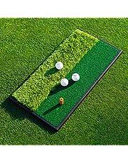 FORB Launch Pad Golf Practice Mat (Fairway/2-in-1) (60cm x 30cm) - Mini Golf Mat Choose From Realistic Fairway & Semi-Rough Lies
