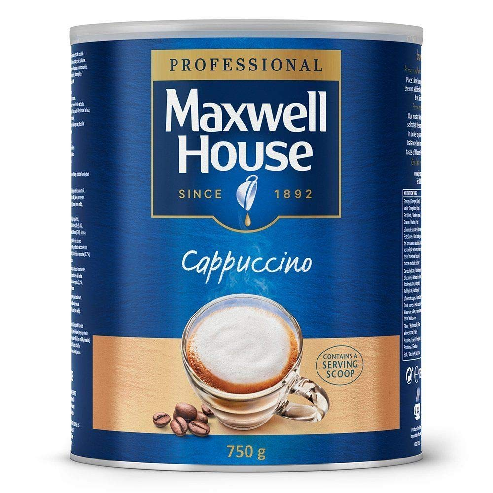 Maxwell House Instant Cappuccino 750 g Tin, Approx 44 Servings