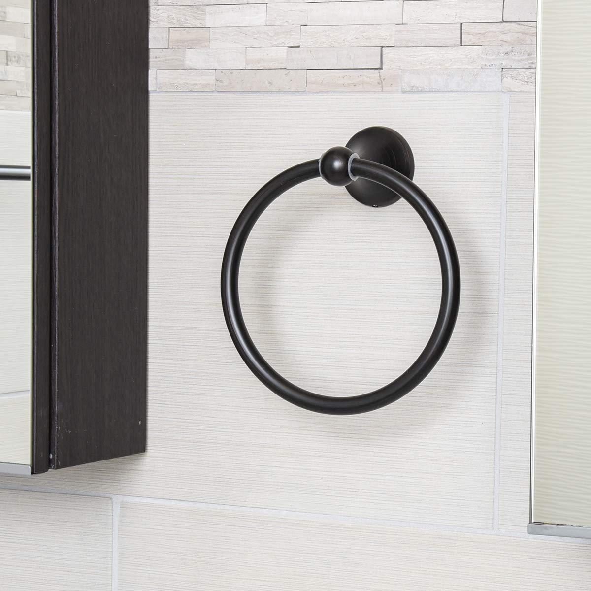 AB-BR836-SN Basics nichel satinato anello porta asciugamani