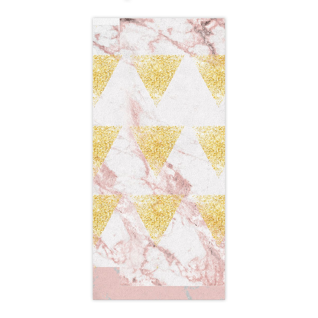 OxOHome Custom Bath Towel Quick Dry Absorbent Towels Spa Shower Wrap for College Dorms, Gyms, Locker Rooms, 27.5 x 55 inch - Modern Rose Gold Marble
