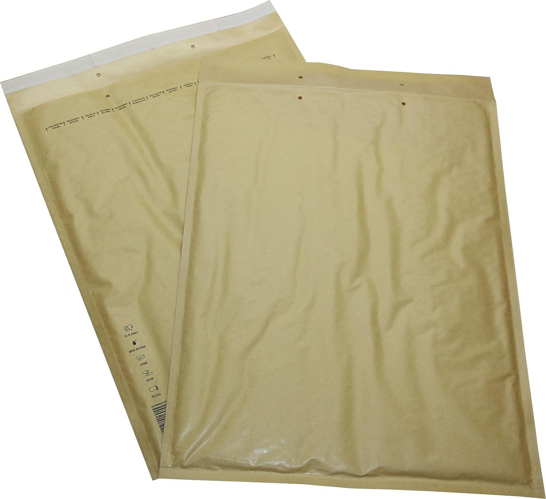 10 K braun gelb 370 x 480 mm Briefumschl/äge DIN A3+ C3 150 St Luftpolster Versandtaschen Gr gold