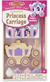 Melissa & Doug Decorate-Your-Own Wooden Princess Carriage Craft Kit
