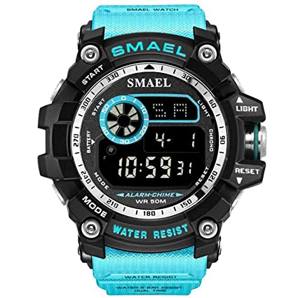Blisfille Relojes Unisex Deportivos Reloj 45Mm Hombre Reloj Digital Mujer Reloj Digital Verde Reloj Hombre Joven