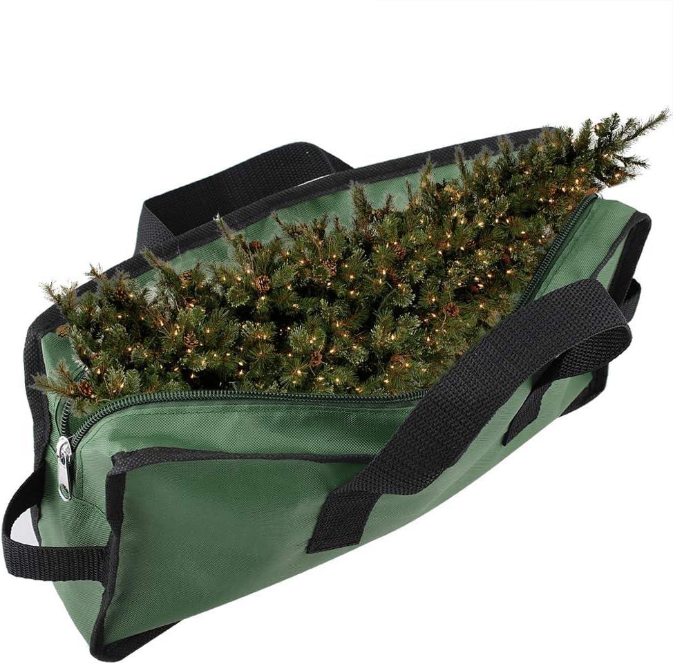 TETHYSUN - Bolsa de almacenamiento para árbol de Navidad artificial de hasta 7 pies con asas reforzadas duraderas con doble cremallera