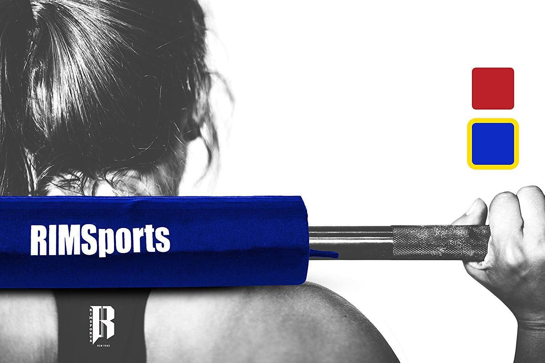 Elite Olympic Barbell Pad por rimsports – Best Fitness pesas almohadilla para sentadillas y estocadas – PREMIUM Squat Bar Pad para culturismo, entrenamiento de Cruz – Ideal Squat Barbell Pad para Barbell