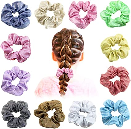 MOLYHUA 20 Pack Colorful Big Scrunchies for Hair Large Velvet Velvet Scrunchies