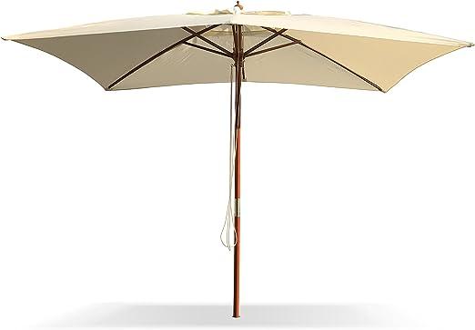 Sombrilla de jardín 3 x 4 metros (madera: Amazon.es: Hogar