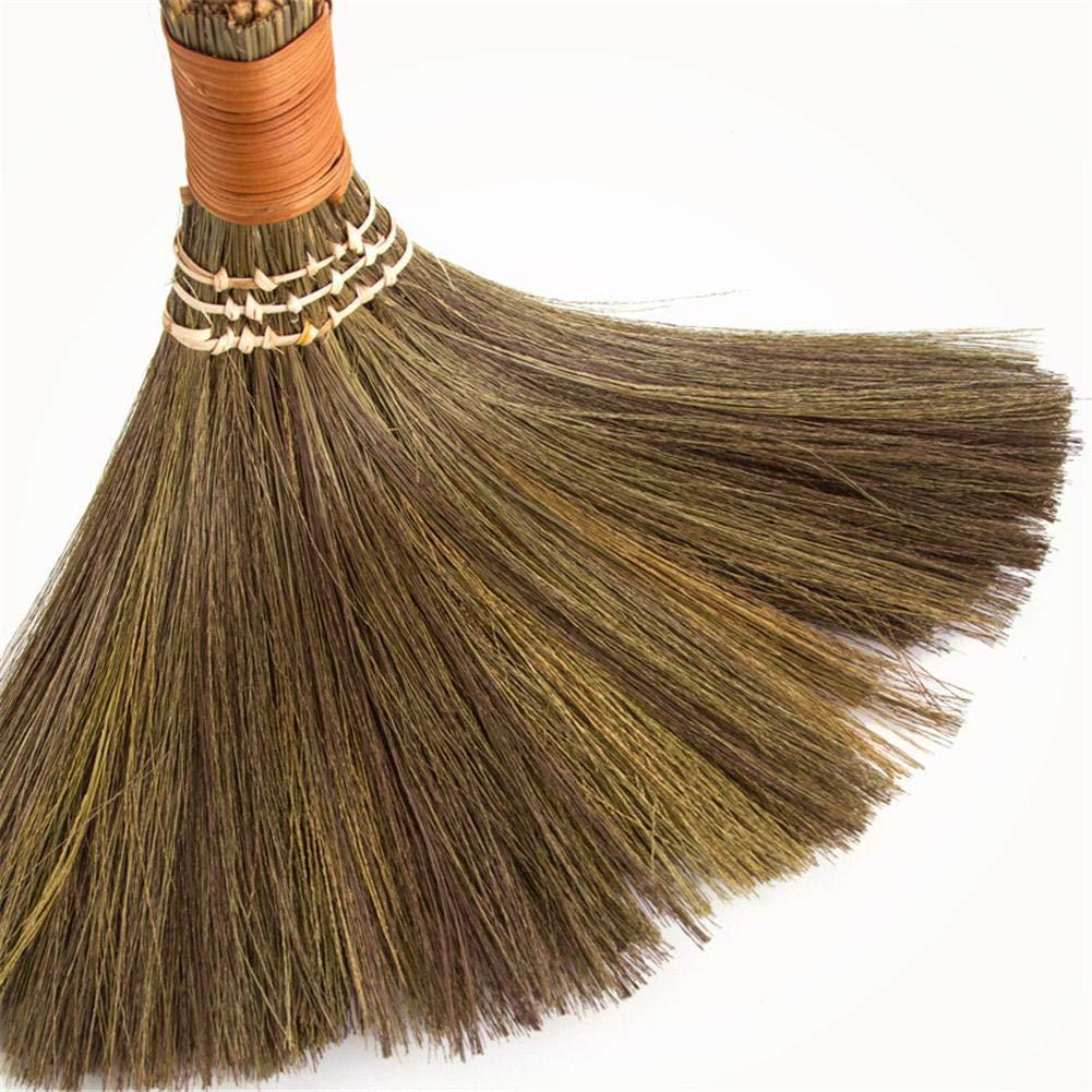 Car Corner Esplic Traditional Wooden Straw Corn Broom Nature Archaize Soft Handmade Broom for Sweeping Broom Sofa