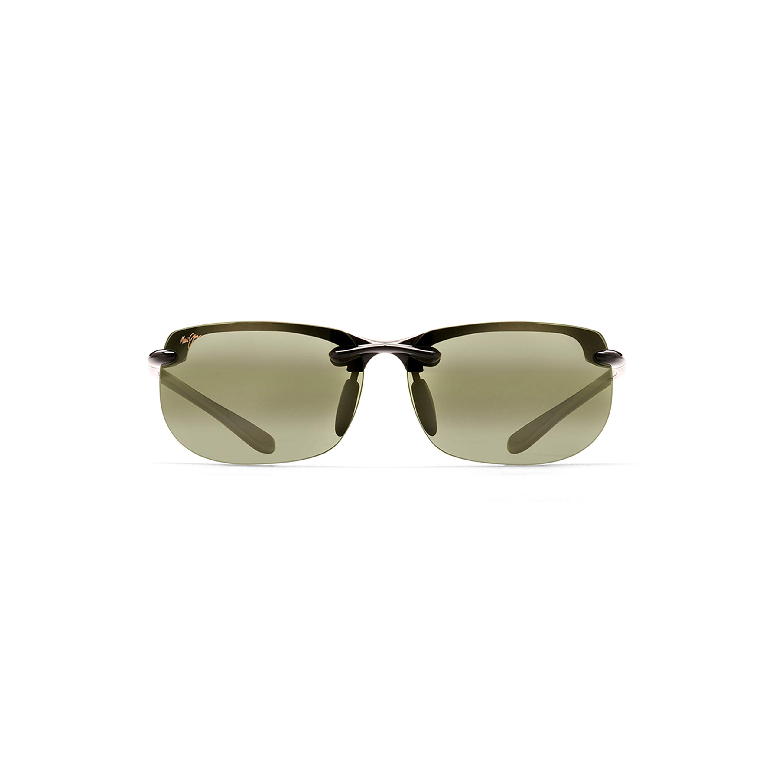Maui Jim Banyans HT412-02   Polarized Rimless Sunglasses, Gloss Black with Maui HT, with with Patented PolarizedPlus2 Lens Technology