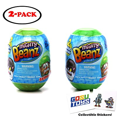 Mighty Beanz 2 Pack Pod Capsule Season 2 (2 Packs) with 2 GosuToys Stickers: Toys & Games