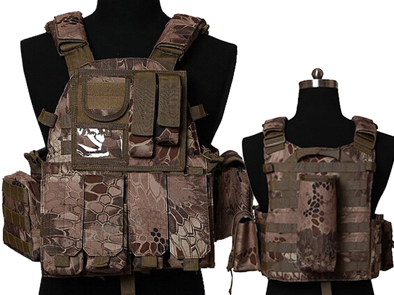 Tactical Multi Attack Molle Combat Vest Magazine Pouch Airsoft Paintball Military BNE by MDG