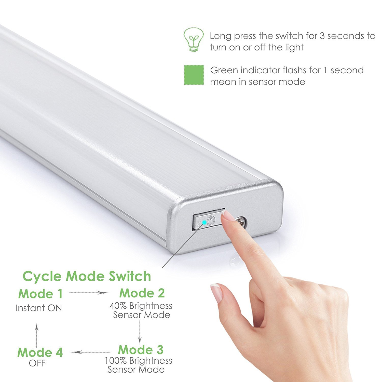LOFTer 56 LED Luz Inalámbrica con Sensor de Movimiento y Crepúsculo, Luz para Armario con 2 Tiras Magnéticas y Batería Recargable 2400mAh: Amazon.es: ...