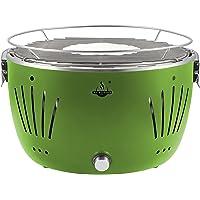El Fuego rauchfreier Holzkohlegrill, Tulsa, grün, 34,2 x 34,2 x 21,5 cm, AY5254