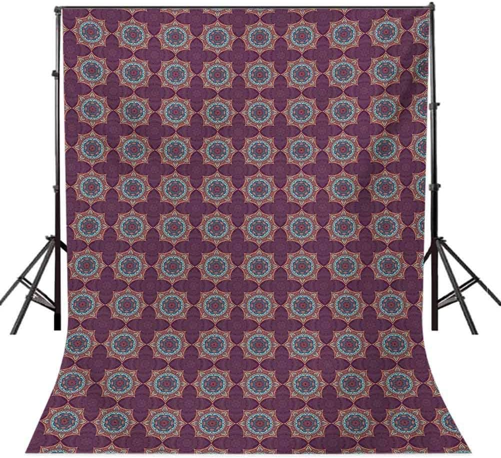 6.5x10 FT Backdrop Photographers,Tribal Flower Pattern with Oriental Elements Culture Motifs Arrangement Background for Baby Birthday Party Wedding Vinyl Studio Props Photography Multicolor