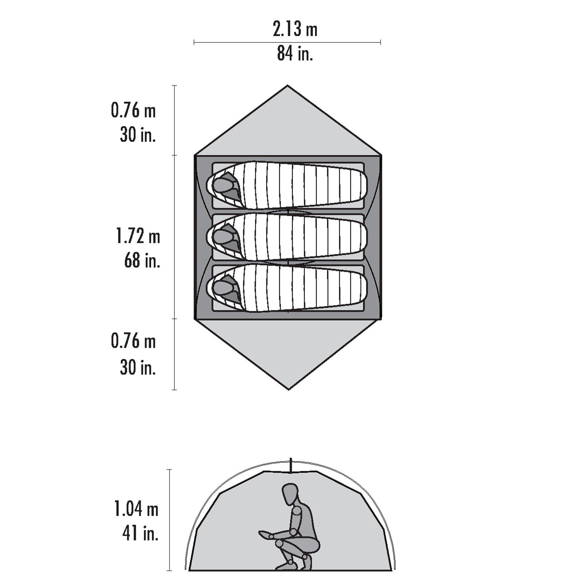 MSR Elixir 3 Backpacking Tent, Red by MSR (Image #4)