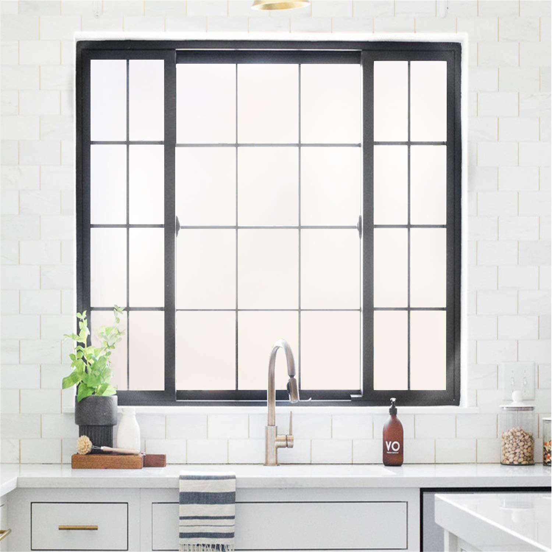 Rabbitgoo Privacy Window Film Matte White Window Film