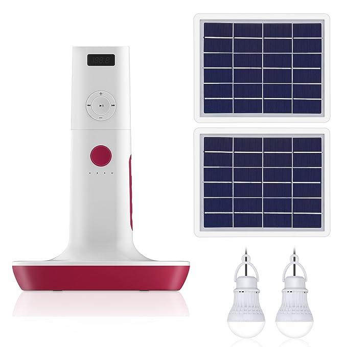 Cargador de teléfono Solar, FuSolar 6 W/12 V Impermeable ...