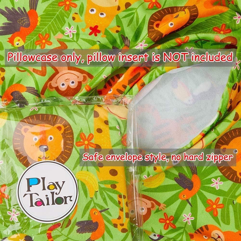 Play Tailor Toddler Pillowcase 2 Pack 14x19in Ultra Soft Velvet Fleece Unicorn Pillow Case for Kids Sleeping Napping No Insert