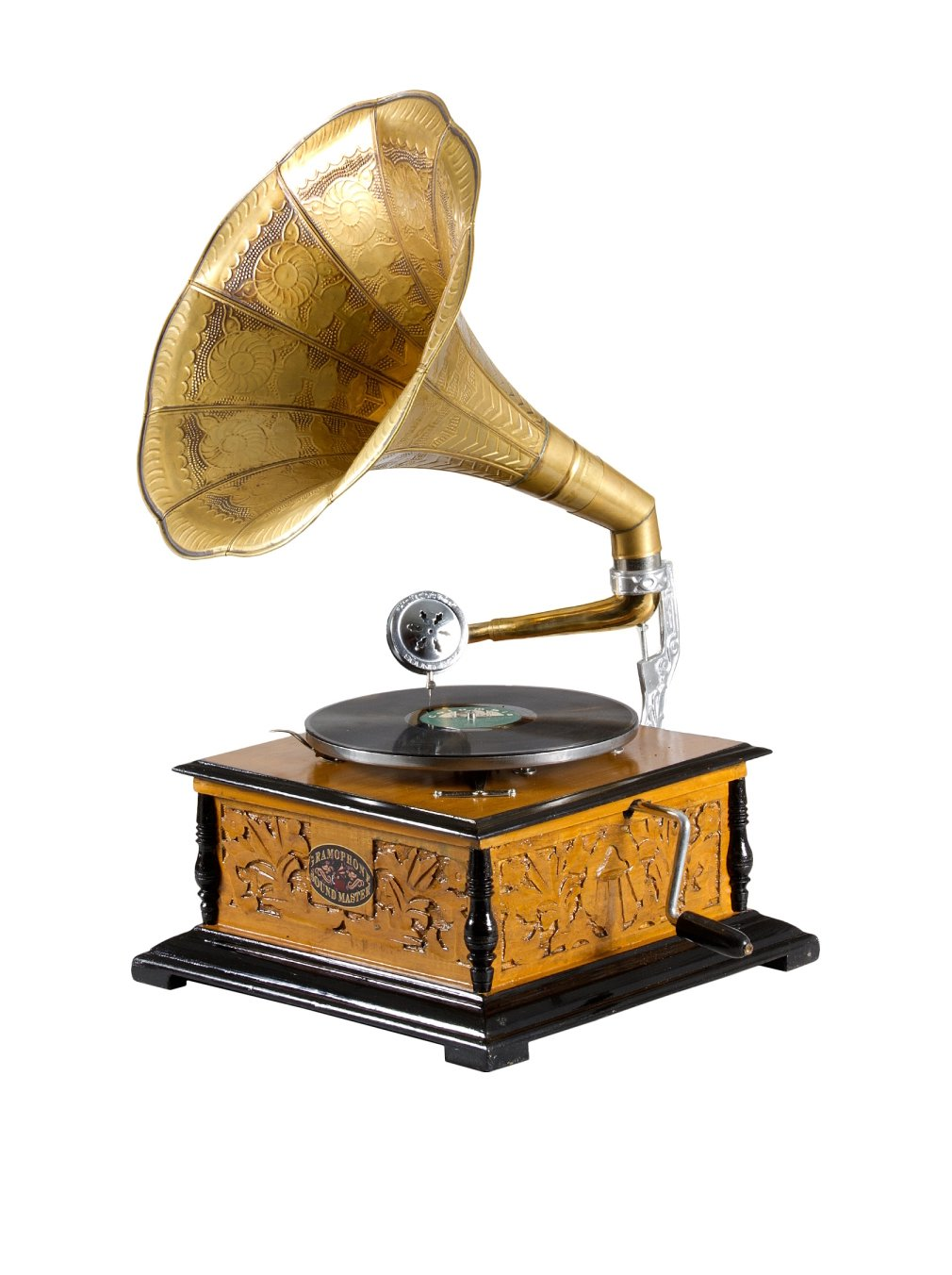 TUTTAMBI Elemento Decorativo Gramophone 17222_marrónydorado
