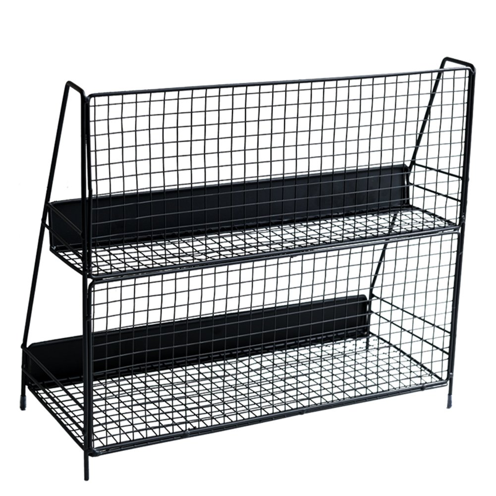 Rart Brief Desk Organiser,Book Shelf Storage Rack Fashion Magazine Rack Multi-Function Storage Cabinet-Keeping Your Desk Table More Tidy-Black 40x32.8cm(16x13inch)