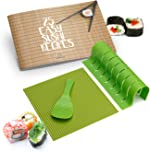 Sushi Making Kit - Silicone Sushi Roller With Rice Paddle, Roll