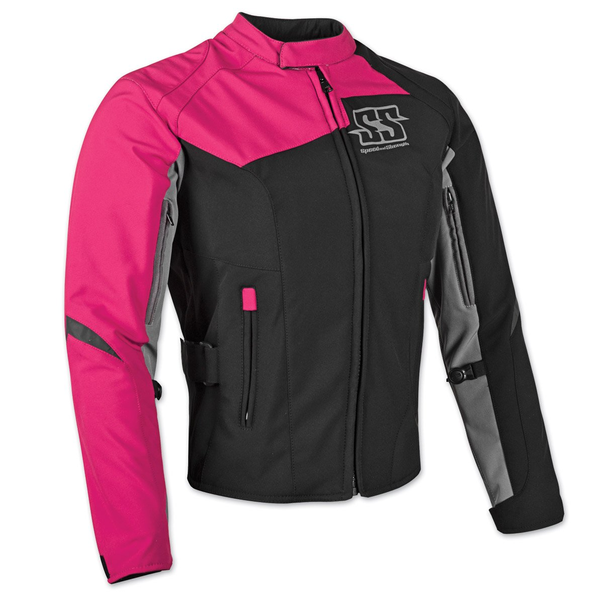 Pink Speed /& Strength Womens Backlash Textile Jacket X-Large