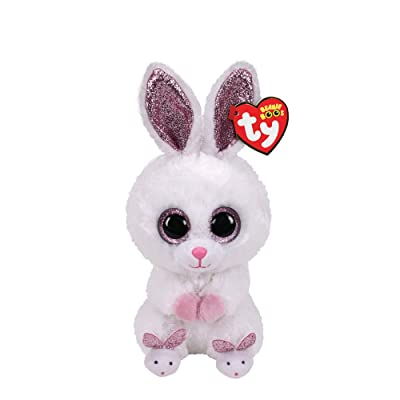 "Ty Beanie Boos 6"" Slippers The Rabbit, Perfect Plush!: Toys & Games"